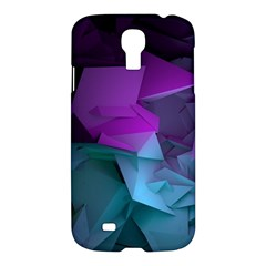 Abstract Shapes Purple Green  Samsung Galaxy S4 I9500/i9505 Hardshell Case by amphoto