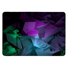 Abstract Shapes Purple Green  Samsung Galaxy Tab 8 9  P7300 Flip Case by amphoto