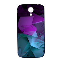 Abstract Shapes Purple Green  Samsung Galaxy S4 I9500/i9505  Hardshell Back Case by amphoto
