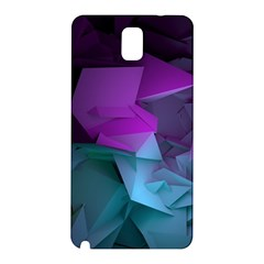 Abstract Shapes Purple Green  Samsung Galaxy Note 3 N9005 Hardshell Back Case by amphoto