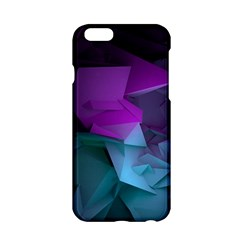 Abstract Shapes Purple Green  Apple Iphone 6/6s Hardshell Case by amphoto