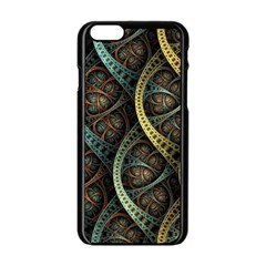 Line Semi Circle Background Patterns 82323 3840x2400 Apple Iphone 6/6s Black Enamel Case by amphoto