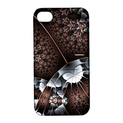 Lines Background Light Dark 81522 3840x2400 Apple Iphone 4/4s Hardshell Case With Stand by amphoto
