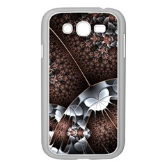 Lines Background Light Dark 81522 3840x2400 Samsung Galaxy Grand Duos I9082 Case (white) by amphoto