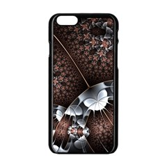 Lines Background Light Dark 81522 3840x2400 Apple Iphone 6/6s Black Enamel Case by amphoto
