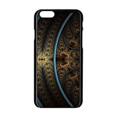 Lines Dark Patterns Background Spots 82314 3840x2400 Apple Iphone 6/6s Black Enamel Case by amphoto