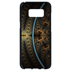 Lines Dark Patterns Background Spots 82314 3840x2400 Samsung Galaxy S8 Black Seamless Case by amphoto