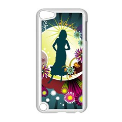 Abstraction Vector Heavens Woman Flowers  Apple Ipod Touch 5 Case (white) by amphoto