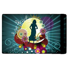 Abstraction Vector Heavens Woman Flowers  Apple Ipad Pro 9 7   Flip Case by amphoto