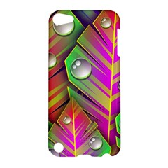 Leaves Dew Art Bright Lines Patterns  Apple Ipod Touch 5 Hardshell Case by amphoto
