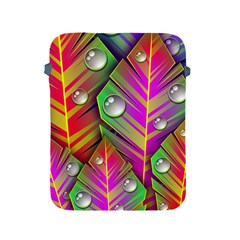 Leaves Dew Art Bright Lines Patterns  Apple Ipad 2/3/4 Protective Soft Cases by amphoto