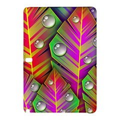 Leaves Dew Art Bright Lines Patterns  Samsung Galaxy Tab Pro 10 1 Hardshell Case by amphoto