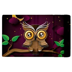 Owl Bird Art Branch 97204 3840x2400 Apple Ipad Pro 12 9   Flip Case by amphoto