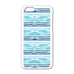 Watercolor Blue Abstract Summer Pattern Apple Iphone 6/6s White Enamel Case by TastefulDesigns