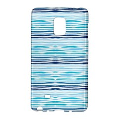Watercolor Blue Abstract Summer Pattern Galaxy Note Edge by TastefulDesigns