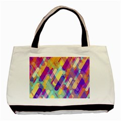 Colorful Abstract Background Basic Tote Bag by TastefulDesigns