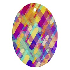 Colorful Abstract Background Oval Ornament (two Sides) by TastefulDesigns