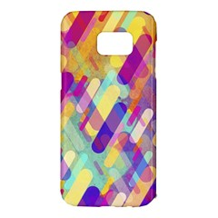 Colorful Abstract Background Samsung Galaxy S7 Edge Hardshell Case by TastefulDesigns