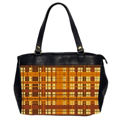 Plaid Pattern Office Handbags (2 Sides)  by linceazul