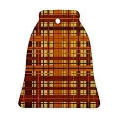 Plaid Pattern Bell Ornament (two Sides) by linceazul