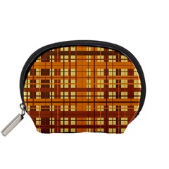 Plaid Pattern Accessory Pouches (small)  by linceazul