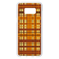 Plaid Pattern Samsung Galaxy S8 Plus White Seamless Case by linceazul