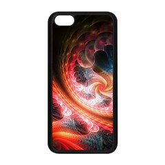 Abstraction Flowering Lines Fractal  Apple Iphone 5c Seamless Case (black) by amphoto