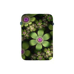 Abstraction Fractal Flowers Greens  Apple Ipad Mini Protective Soft Cases by amphoto