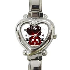 Agata Heart Italian Charm Watch by quirogaart