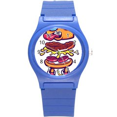 Burger Kill Round Plastic Sport Watch (s) by quirogaart