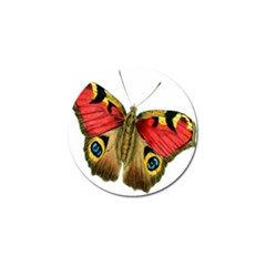 Butterfly Bright Vintage Drawing Golf Ball Marker by Nexatart