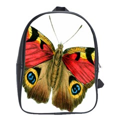 Butterfly Bright Vintage Drawing School Bag (large) by Nexatart