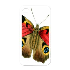 Butterfly Bright Vintage Drawing Apple Iphone 4 Case (white) by Nexatart