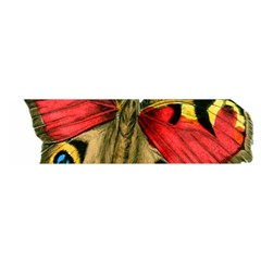 Butterfly Bright Vintage Drawing Satin Scarf (oblong) by Nexatart