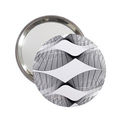 Curves Pattern Black On White 2 25  Handbag Mirrors by CrypticFragmentsColors