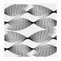 Curves Pattern Black On White Medium Glasses Cloth (2 Side) by CrypticFragmentsColors