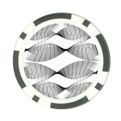 Curves Pattern Black On White Poker Chip Card Guard by CrypticFragmentsColors