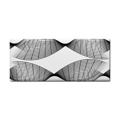Curves Pattern Black On White Cosmetic Storage Cases by CrypticFragmentsColors