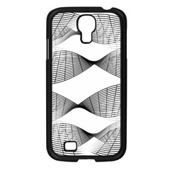Curves Pattern Black On White Samsung Galaxy S4 I9500/ I9505 Case (black) by CrypticFragmentsColors