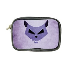 Purple Evil Cat Skull Coin Purse by CreaturesStore