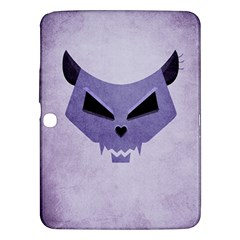 Purple Evil Cat Skull Samsung Galaxy Tab 3 (10 1 ) P5200 Hardshell Case  by CreaturesStore