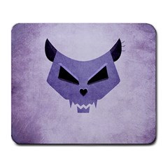 Purple Evil Cat Skull Large Mousepads by CreaturesStore