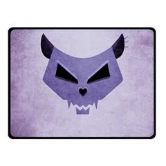 Purple Evil Cat Skull Fleece Blanket (small) by CreaturesStore