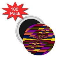 Autumn Check 1 75  Magnets (100 Pack)  by designworld65