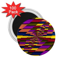 Autumn Check 2 25  Magnets (100 Pack)  by designworld65