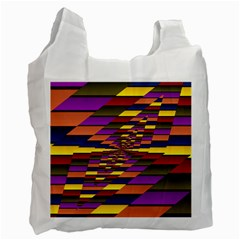 Autumn Check Recycle Bag (one Side) by designworld65