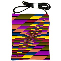 Autumn Check Shoulder Sling Bags by designworld65