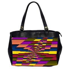 Autumn Check Office Handbags (2 Sides)  by designworld65