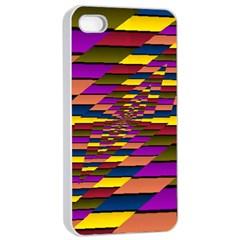 Autumn Check Apple Iphone 4/4s Seamless Case (white) by designworld65