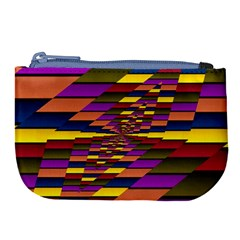Autumn Check Large Coin Purse by designworld65